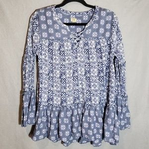Ladies True Craft long sleeve blouse size large